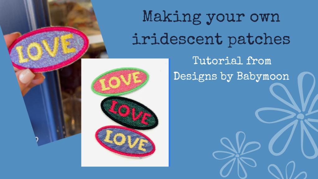 tutorial header - making iridescent mylar patches